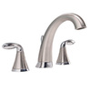 AquaSource Brushed Nickel 2-Handle Widespread WaterSense Bathroom Sink Faucet (Drain Included)