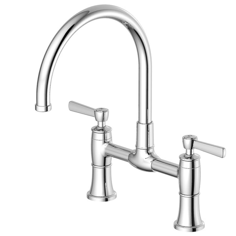 shop aquasource chrome high arc kitchen faucet at lowes com