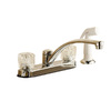 Project Source Chrome 2-Handle Low-Arc Kitchen Faucet with Side Spray