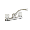 Project Source Chrome 2-Handle Low-Arc Kitchen Faucet