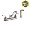 Project Source Chrome 2-Handle Low-Arc Touch Kitchen Faucet with Side Spray