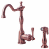 Danze Opulence Antique Copper 1-Handle High-Arc Kitchen Faucet with Side Spray
