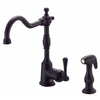 Danze Opulence Satin Black 1-Handle High-Arc Kitchen Faucet with Side Spray