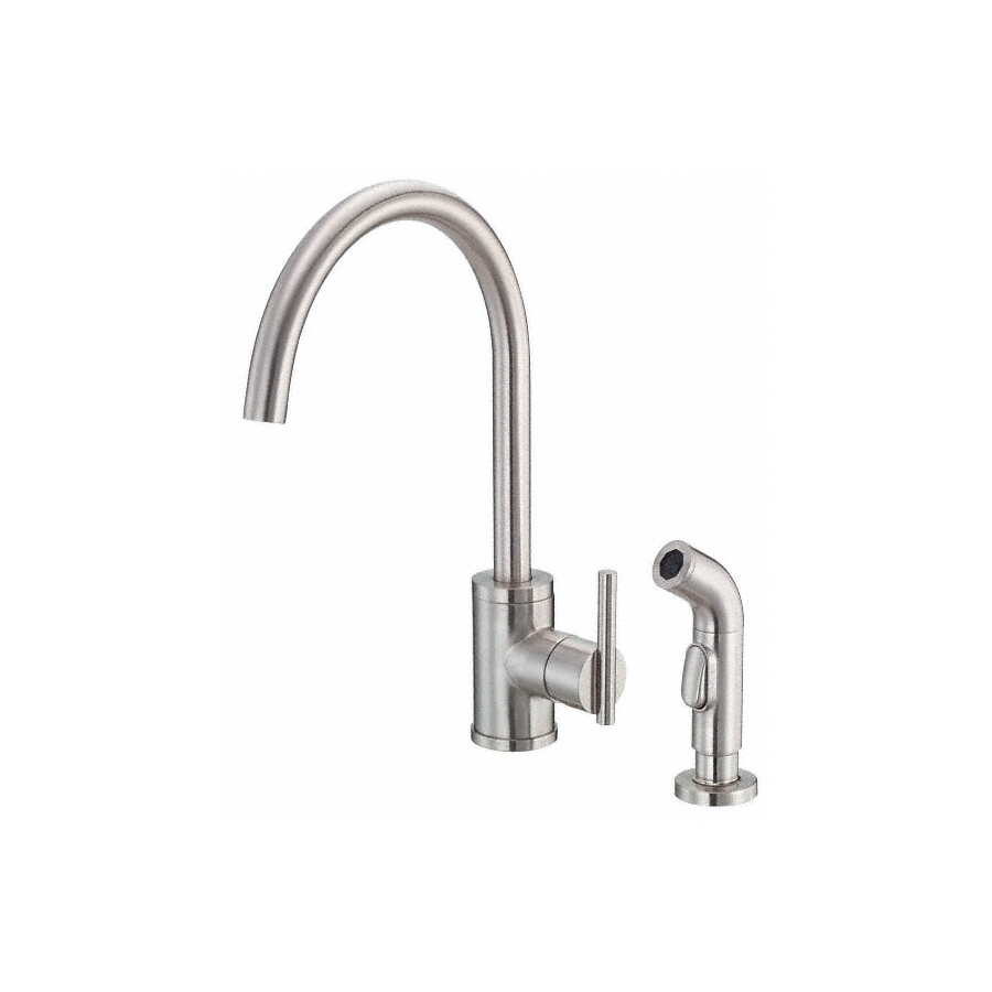 Danze Kitchen Faucet : Shop Danze Parma Stainless Steel High-Arc Kitchen Faucet with Side ...