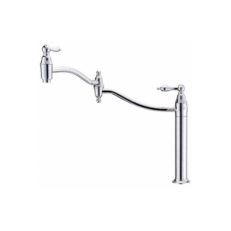 Shop danze fairmont chrome pot filler kitchen faucet at Pot filler faucet