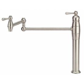Shop Danze Opulence Stainless Steel Pot Filler Kitchen Faucet At