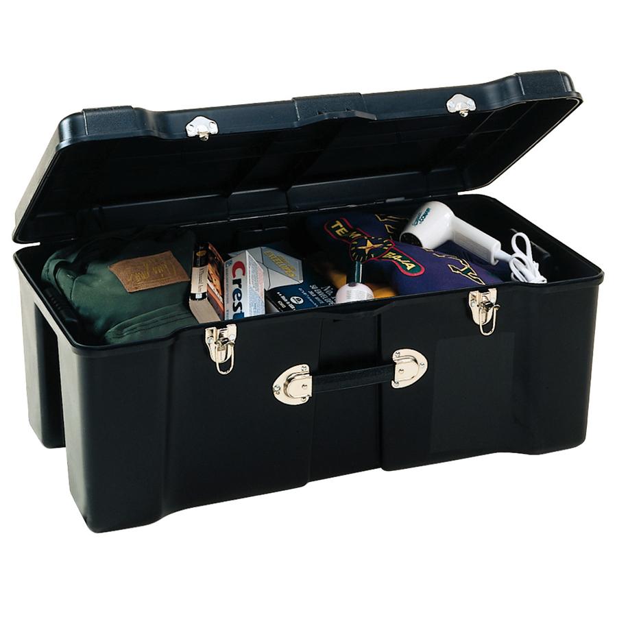 Shop contico contico 23 gallon black plastic storage trunk at - Footlockers storage ...