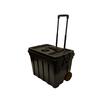 CONTICO 22-Gallon Black Wheeled Plastic Storage Trunk