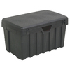 CONTICO 53-Gallon Black Plastic Storage Trunk