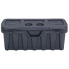 CONTICO 20-Gallon Black Plastic Storage Trunk