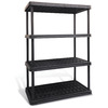 Blue Hawk 62.75-in H x 43.75-in W x 24-in D 4-Tier Plastic Freestanding Shelving Unit
