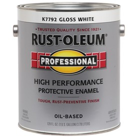 Rust-Oleum Professional High Performance White Gloss Oil-Based Enamel Interior/Exterior Paint (Actual Net Contents: 128-fl oz)