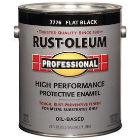Rust-Oleum Professional High Performance Black Flat Oil-Based Enamel Interior/Exterior Paint (Actual Net Contents: 128-fl oz)