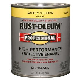 Rust-Oleum Professional High Performance Safety Yellow Gloss Oil-Based Enamel Interior/Exterior Paint (Actual Net Contents: 32-fl oz)