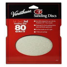 Varathane EZV 3-Pack 36-Grit 0.25-in W x 7.625-in L Floor Sander Disc Sandpaper
