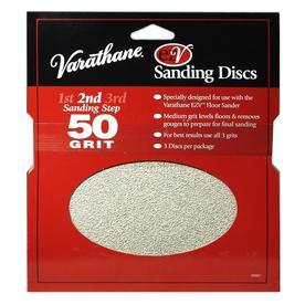 Varathane EZV 3-Pack 0.25-in W x 7.625-in L 50-Grit Commercial Floor Sander Disc Sandpaper