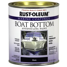 Rust-Oleum 32 fl oz Interior/Exterior Flat Black Boat Bottom Marine Paint