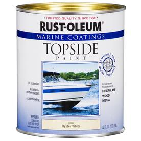 Rust-Oleum Quart Exterior Gloss Marine White Paint