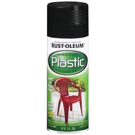 Rust-Oleum Specialty Plastic Black Fade Resistant Spray Paint (Actual Net Contents: 12-oz)