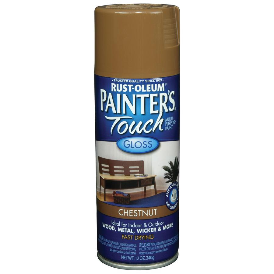 Shop Rust Oleum 12 Oz Chestnut Gloss Spray Paint At