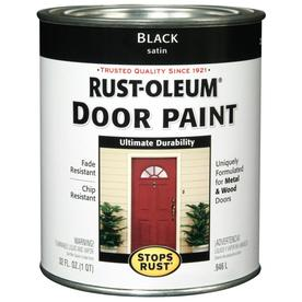 Rust-Oleum Stops Rust Alkyd Enamel Stops Rust Black Satin Oil-Based Enamel Interior/Exterior Paint (Actual Net Contents: 32-fl oz)