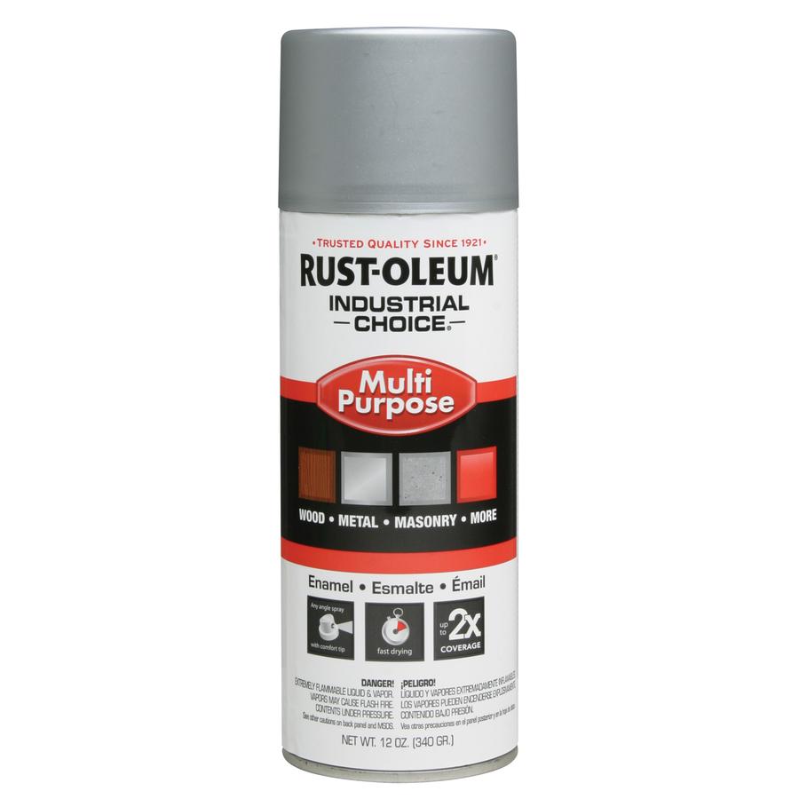Shop Rust Oleum 12 Oz Dull Aluminum Flat Spray Paint At