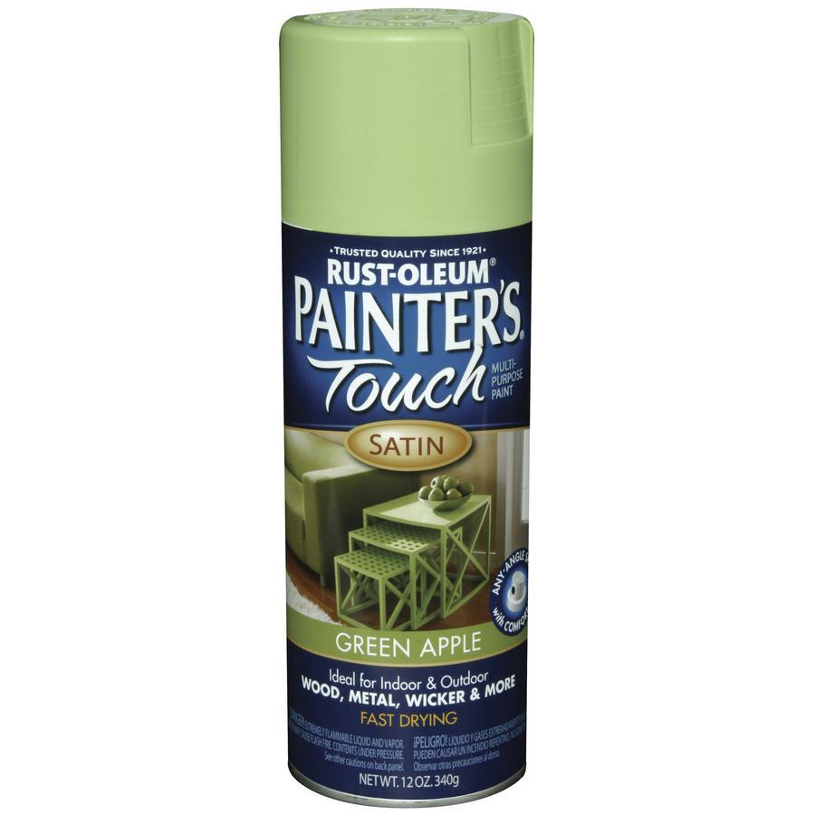 Shop Rust Oleum 12 Oz Green Apple Satin Spray Paint At