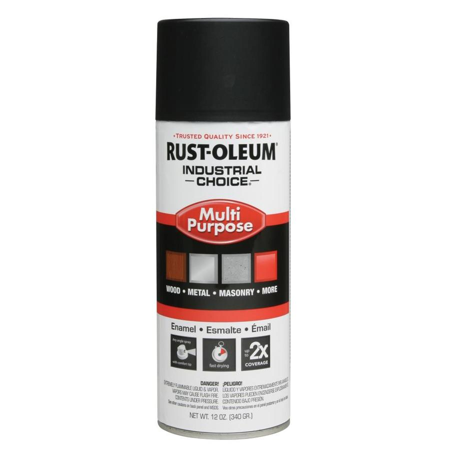 Shop Rust Oleum 12 Oz Semi Flat Black Flat Spray Paint At