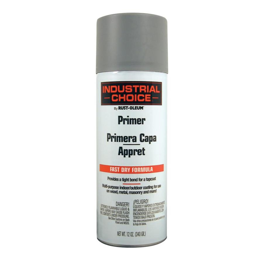 Shop Rust Oleum 12 Oz Gray Primer Flat Spray Paint At