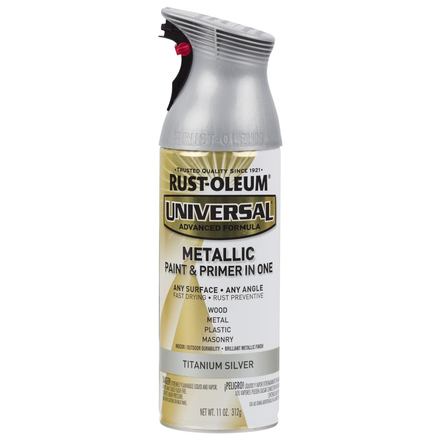 shop rust oleum 12 oz titanium silver spray paint at. Black Bedroom Furniture Sets. Home Design Ideas