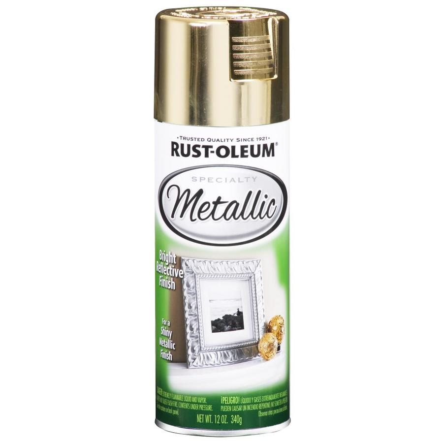 shop rust oleum 11 oz metallic gold spray paint at