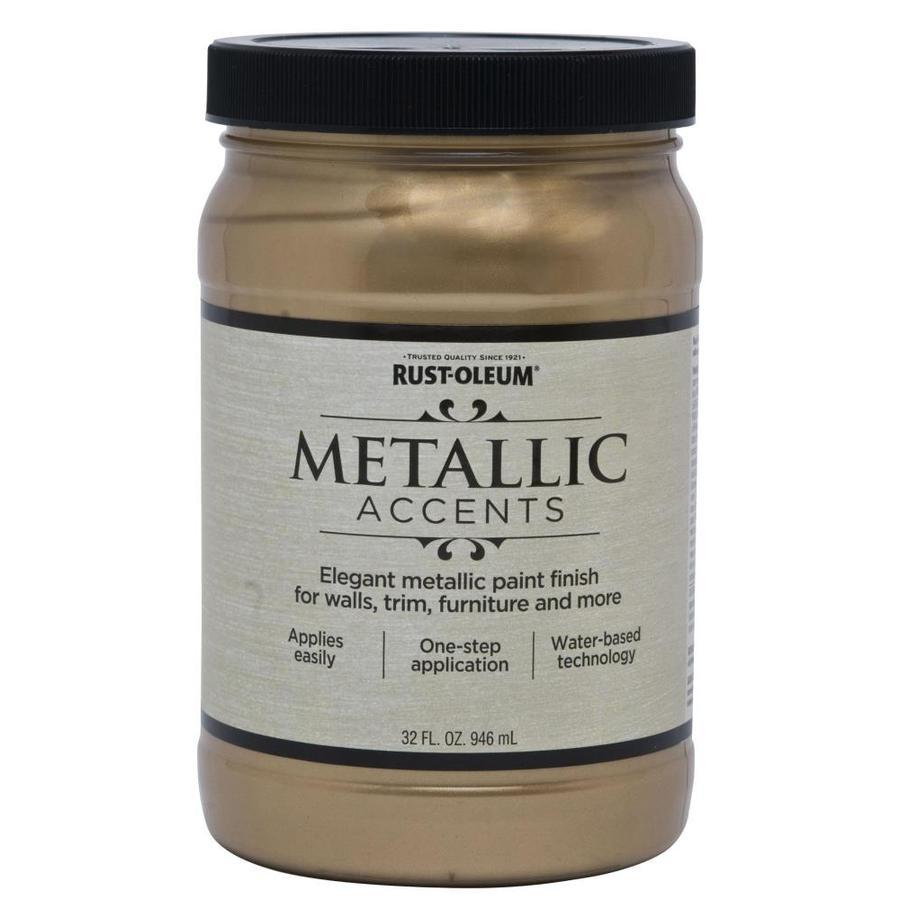 Rust Oleum Metallic Accents Paint Soft Gold