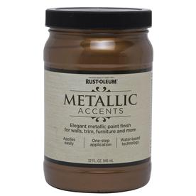 Rust-Oleum Metallic Accents Bronze Metal Gloss Metallic Latex Interior Paint (Actual Net Contents: 32-fl oz)