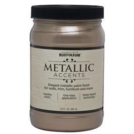 Rust-Oleum Metallic Accents Champagne Gloss Metallic Latex Interior Paint (Actual Net Contents: 32-fl oz)