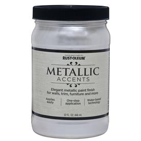 Rust-Oleum Quart Interior/Exterior Gloss Sea Shell Metallic Paint