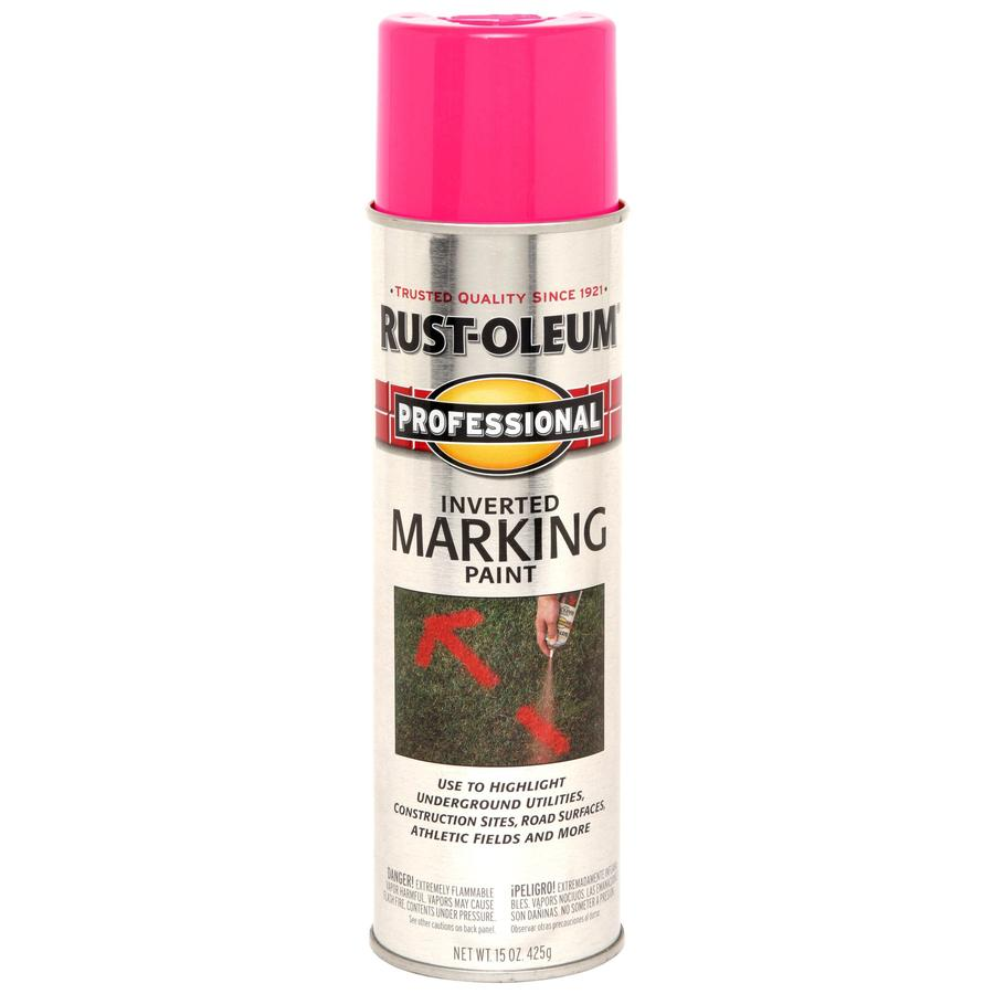 Shop Professional 15 Oz Fluorescent Pink Flat Spray Paint At