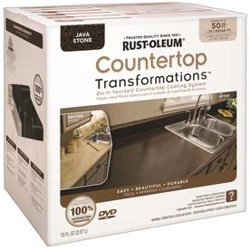 Rust-Oleum 70 fl oz Interior Semi-Gloss Kitchen and Bath Java Stone Countertop Transformations Kit