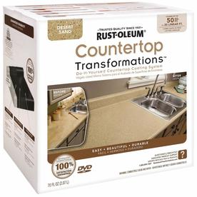 Rust-Oleum 70 fl oz Interior Semi-Gloss Kitchen and Bath Desert Sand Countertop Transformations Kit