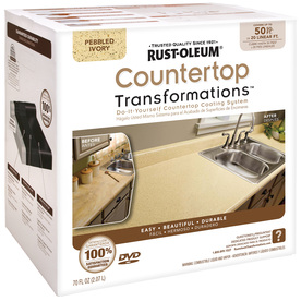 Rust-Oleum 70 fl oz Interior Semi-Gloss Kitchen and Bath Pebbled Ivory Countertop Transformations Kit