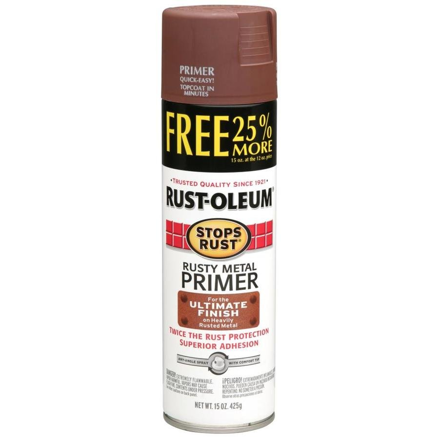 Shop rust oleum 12 oz rusty metal primer flat spray paint at Spray paint for metal
