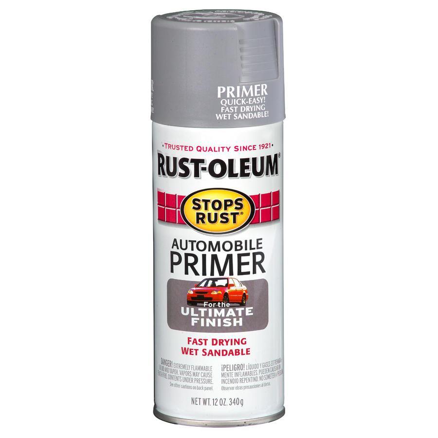 shop rust oleum 12 oz light gray flat spray paint at. Black Bedroom Furniture Sets. Home Design Ideas