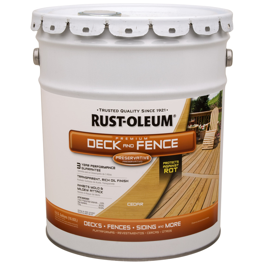 Shop Rust Oleum 5 Gallon Exterior Flat Cedar Water Base Paint And Primer In One At