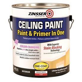 Zinsser Alkyd Enamel Ceiling Bright White Flat Water-Based Enamel Interior Paint and Primer in One (Actual Net Contents: 32-fl oz)