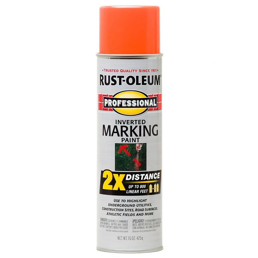 Shop Rust Oleum 15 Oz Fluorescent Orange Flat Spray Paint At