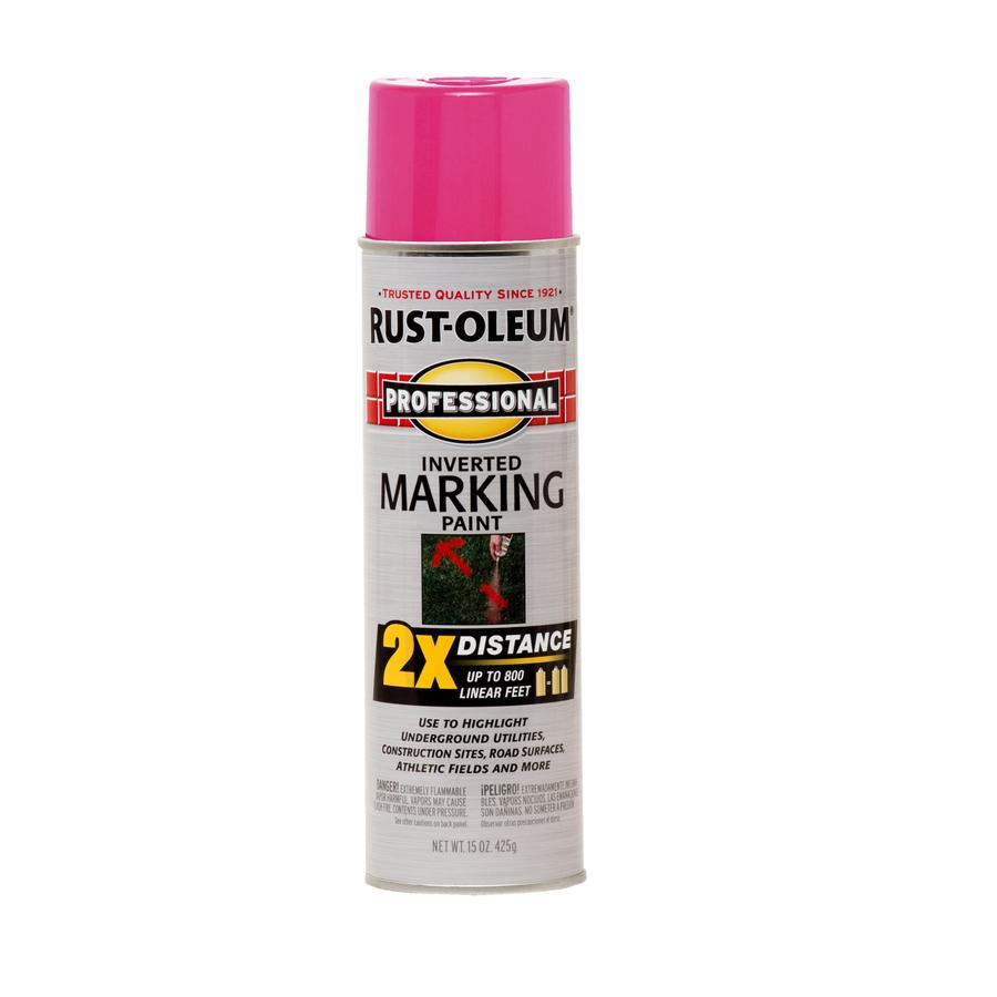 Shop Rust Oleum 15 Oz Fluor Pink Flat Spray Paint At