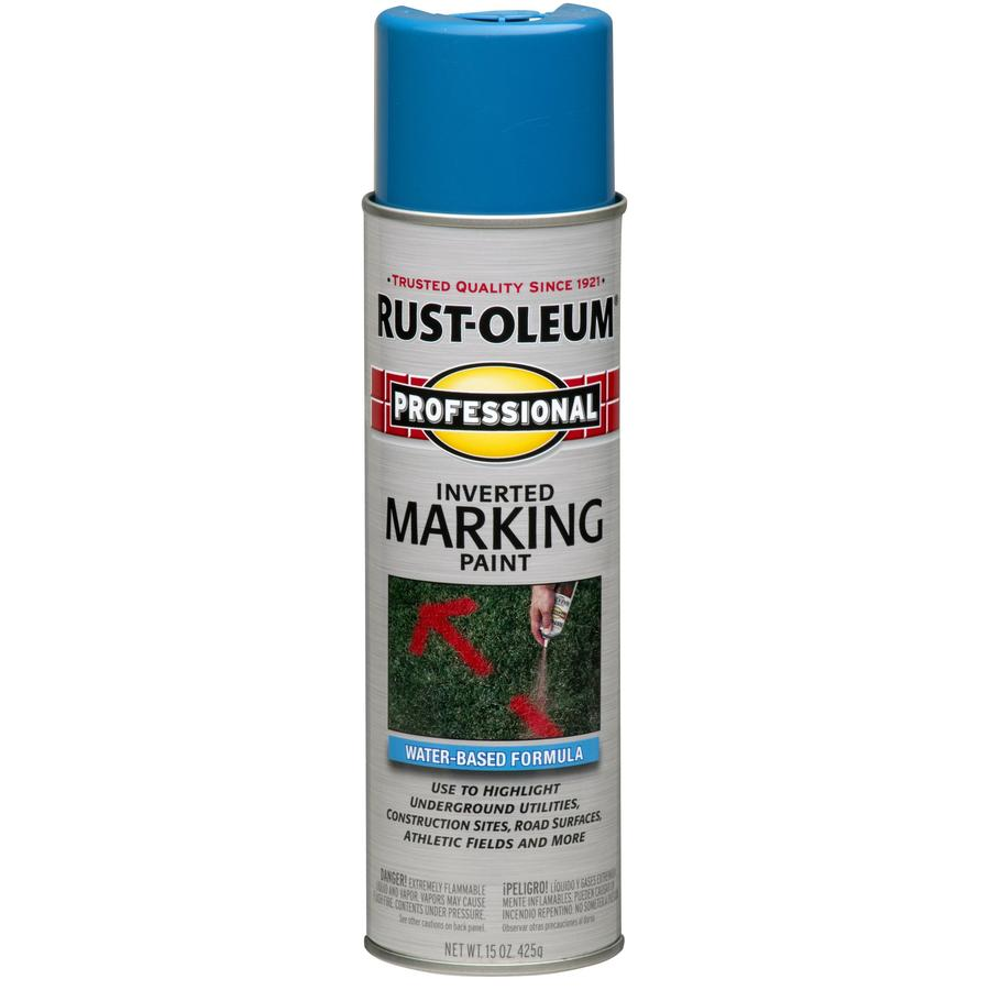 shop rust oleum 15 oz caution blue flat spray paint at. Black Bedroom Furniture Sets. Home Design Ideas