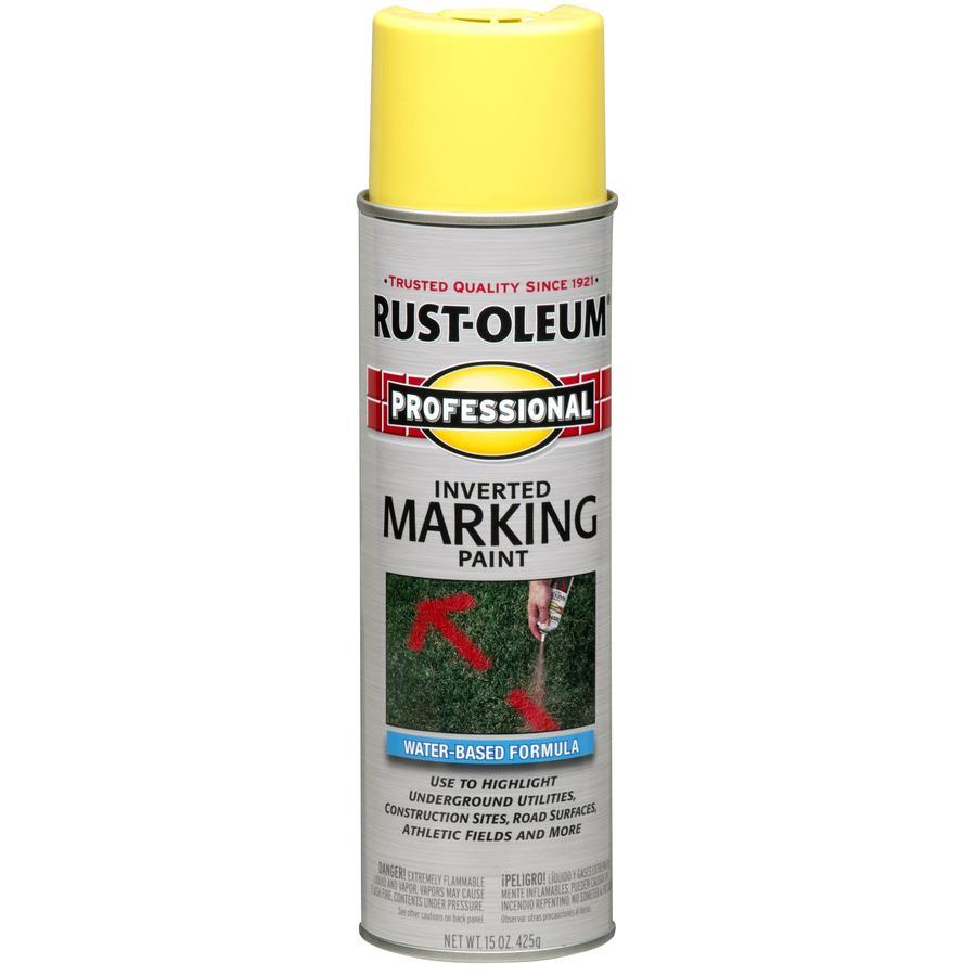 shop rust oleum 15 oz hi vis yellow flat spray paint at. Black Bedroom Furniture Sets. Home Design Ideas