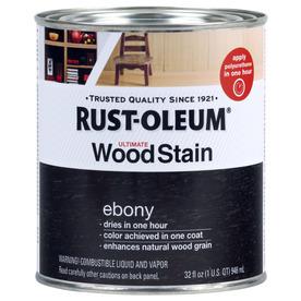 Rust-Oleum Ultimate Wood Stain 32-fl oz Ebony Oil-Based Interior Stain