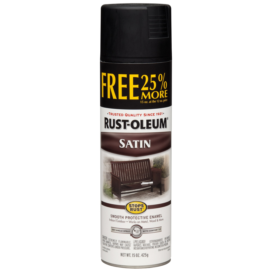 Shop rust oleum 15 oz black satin spray paint at Black spray paint