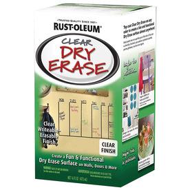 Shop Rust Oleum Clear Gloss Dry Erase Paint Actual Net